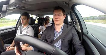 Fahrt im selbstfahrenden Auto; Rechte: WDR
