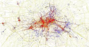 Stadtplan von Berlin; Rechte: Flickr/Eric Fischer (CC BY-SA 2.0)