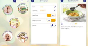 App Baby und Essen; Rechte: Bundesministerium für Ernährung und Landwirtschaft