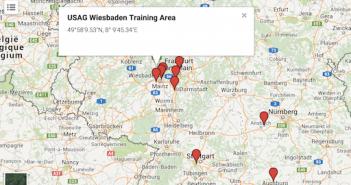 In der Karte sind die Standardorte der geheimen Anlagen verzeichnet; Rechte: WDR