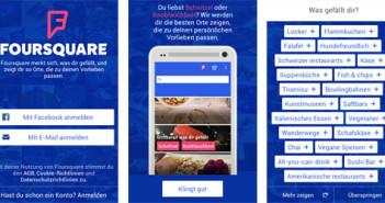Foursquare-App; Rechte: WDR/Horn