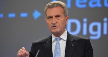 Guenther Oettinger ist Geoblocking-Freund - wurde aber überstimmt; Rechte: dpa/Picture Alliance