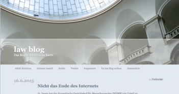 Lawblog sieht nicht das Ende des Internets; Rechte: lawblog.de
