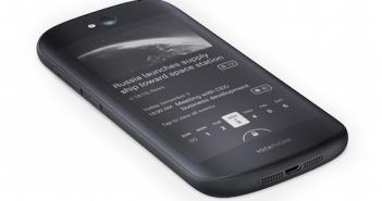 Digital Ink Display auf der Rückseite; Rechte: Yotaphone
