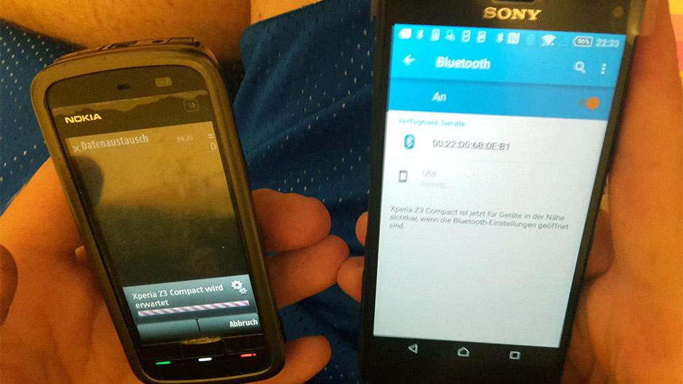 Nummern übertragen via Bluetooth, SIM und WLAN