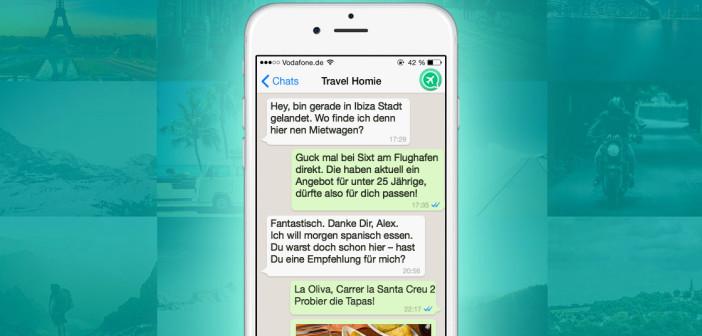 Screenshot von Travel Homie