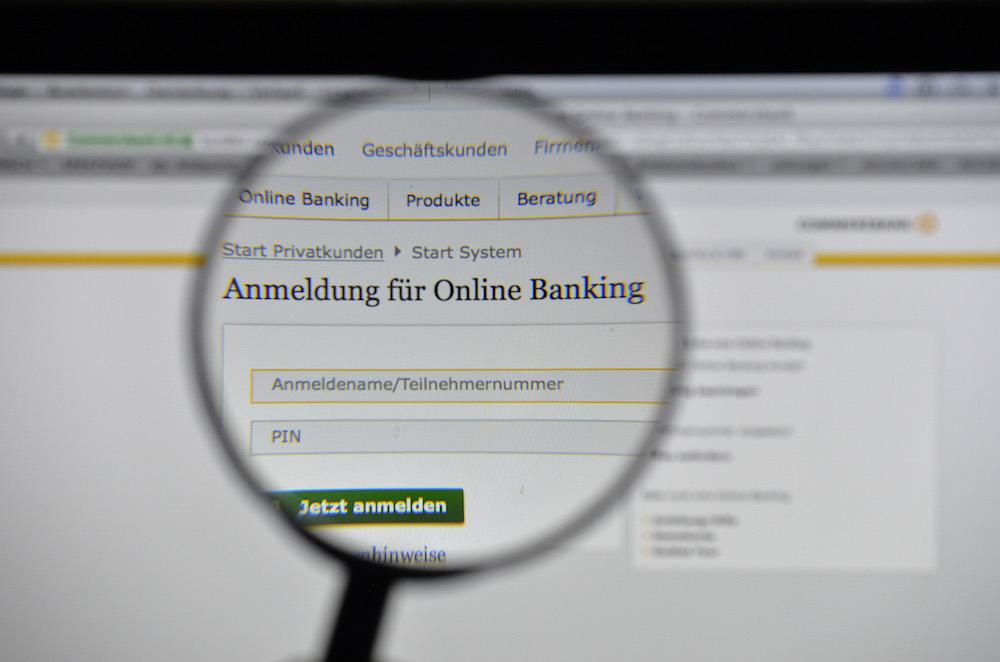 Internetauftritt Commerzbank Onlinebanking; Rechte: dpa/Picture Alliance