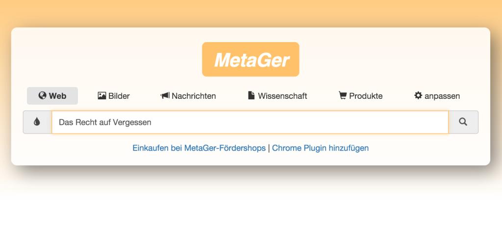 MetaGer im Einsatz; Rechte. WDR