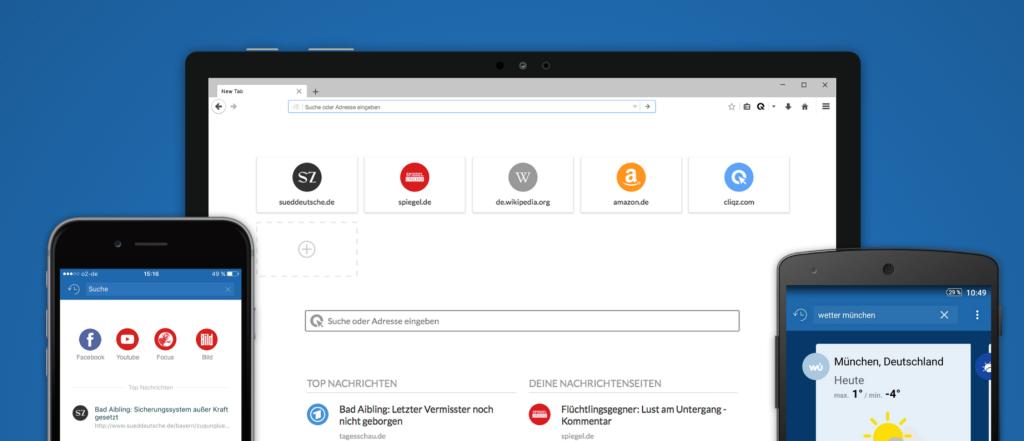 Der Cliqz-Browser kommt aus Deutschland und versucht diskret zu sein
