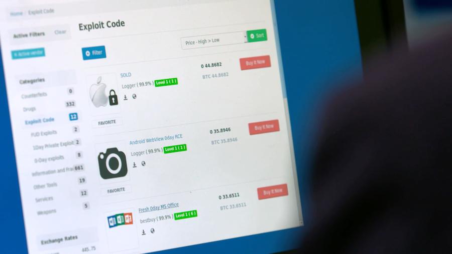 Handel mit Exploits im Darknet; Rechte: WDR/Schieb
