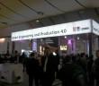 Industrie-4.0-Werbung auf der Hannovermesse [Bildrechte: WDR/Welchering]