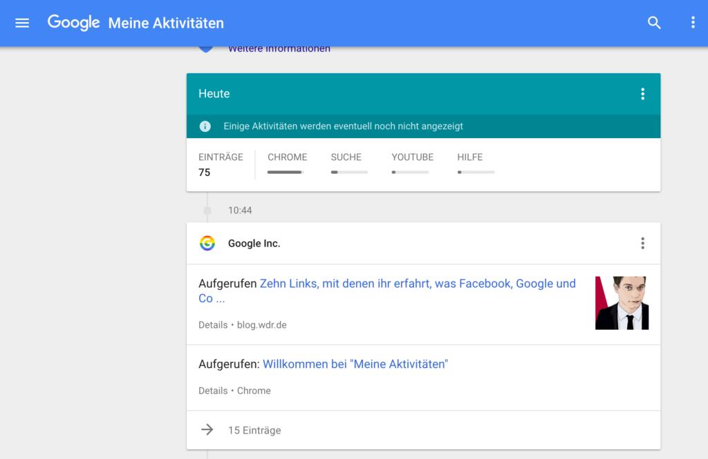 MyActivity auf Google, Rechte: Google