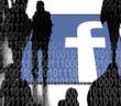 Symbolbild: Facebook-Logo, Umrisse von Menschen