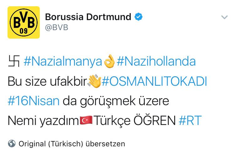 Der gehackte Twitter-Account von Borussia Dortmund; Quelle: Twitter/Borussia Dortmund/dpa