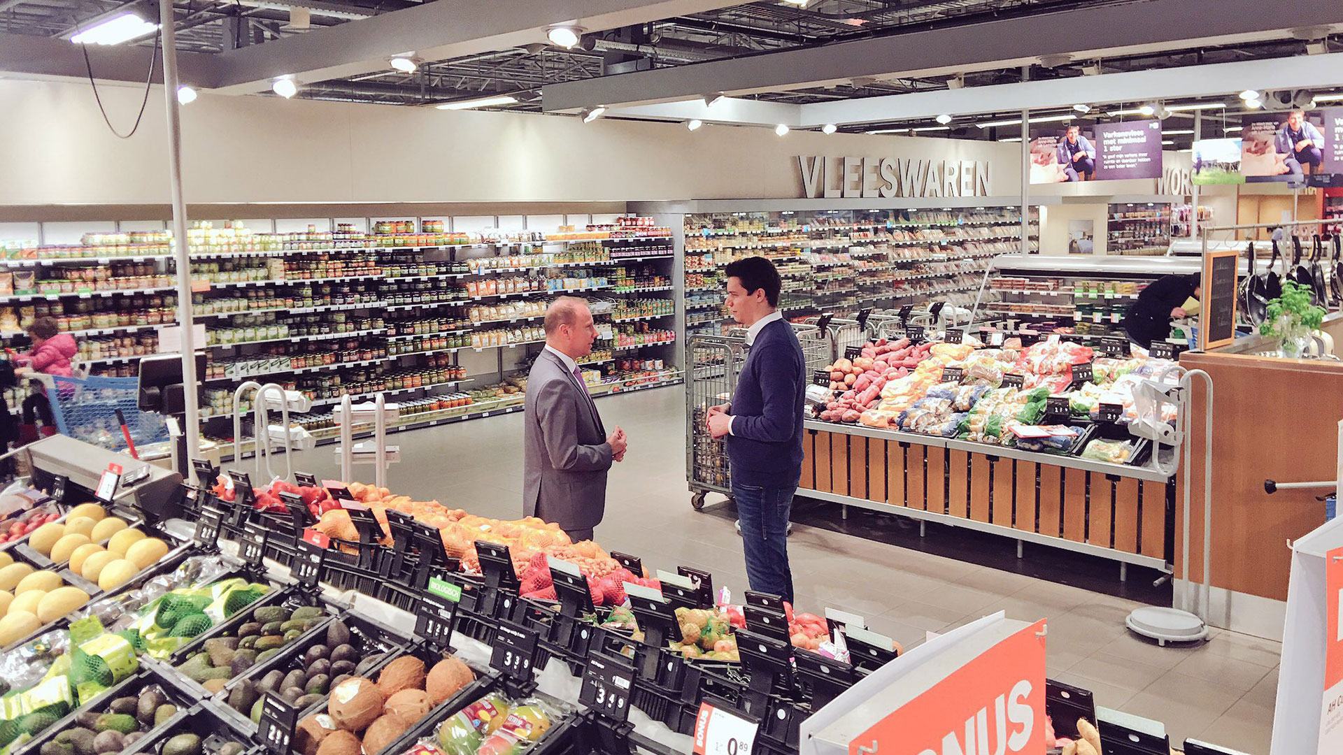 Interview im Supermarkt