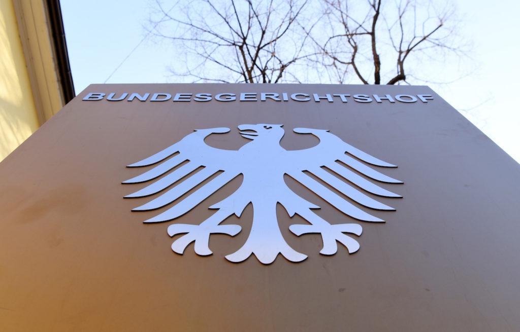 Ein Hinweisschild mit Bundesadler; Rechte: dpa/Picture Alliance