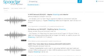 """Die Suchmaschine findet Podcasts, in denen der Begrff """"Streaming"""" auftaucht; Rechte: WDR"""