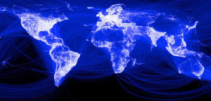 Facebook-Weltkarte