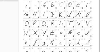 Die eigene Handschrift als Font; Rechte: calligraphr