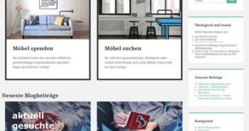 Portal zur Weitergabe von ausgemusterten Möbeln; Rechte: weigergeben.org