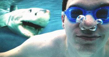 Dennis Horn mit Hai