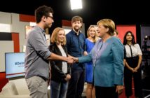 Angela Merkel trifft einige YouTuber; Rechte: YouTube