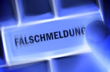 Falschmeldung-Button