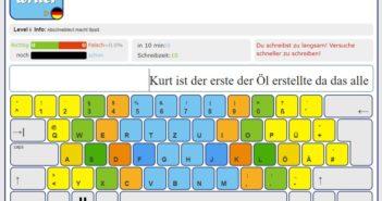 Mit zehn Fingern tippen lernen; Rechte: schreibtrainer.com/WDR