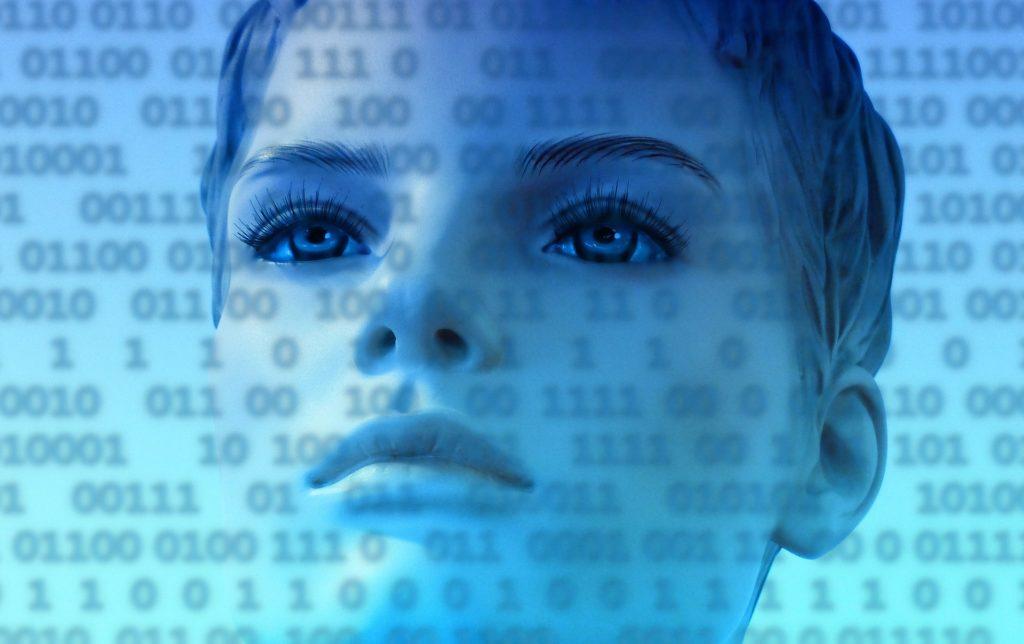 Frau vor Daten; Rechte: Pixabay