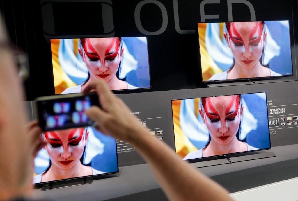 OLED-Fernseher auf der IFA 2017 in Berlin