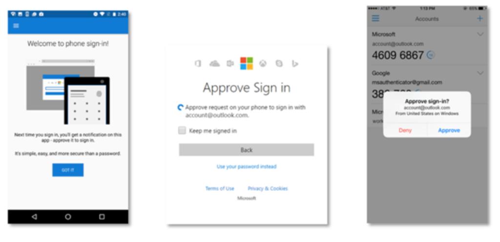 Entsperren mit dem Smartphone: Microsoft hat eine eigene Authentication App; Rechte: Microsoft