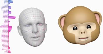 Animojis: Der eigene Gesichtsausdruck wird auf Emojis übertragen; Rechte: Apple