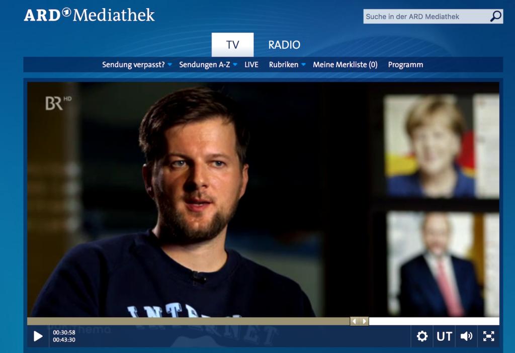 """ARD-Doku """"Die Wahl und das Netz""""; Rechte: WDR"""