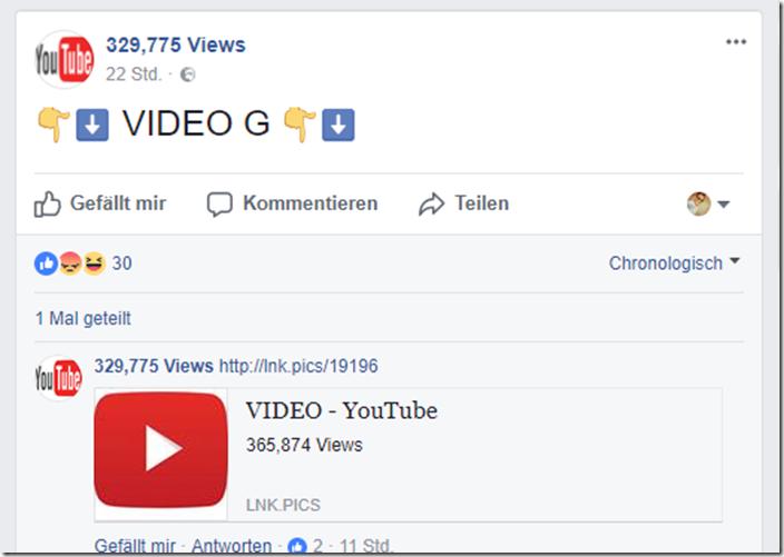 Falle: YouTube-Link auf Facebook; Rechte: Mimikama