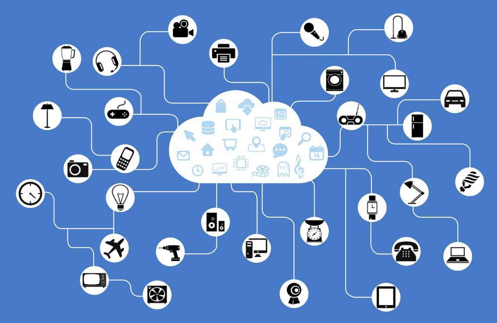 Internet of Things: Alle Geräte mit der Cloud verbunden; Rechte: Pixabay