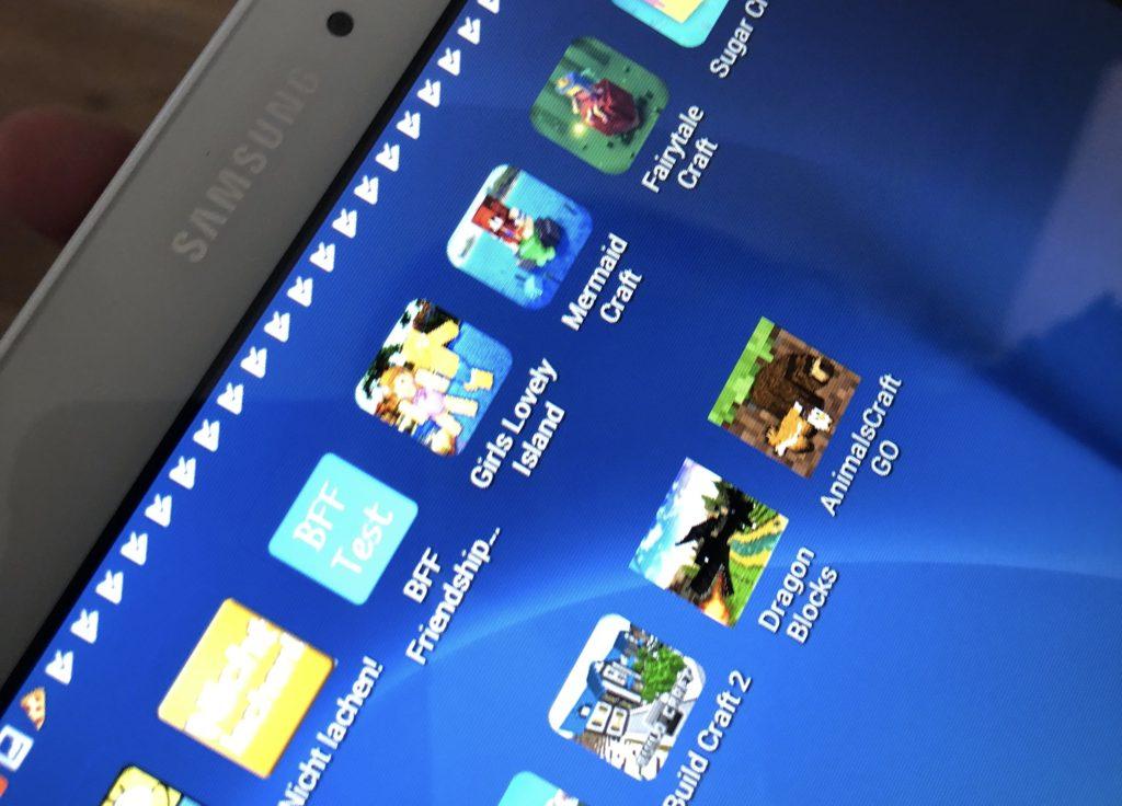 Spiele-Apps: Man sieht den Apps nicht an, ob sie Werbung enthalten oder nicht; Rechte: WDR/Schieb