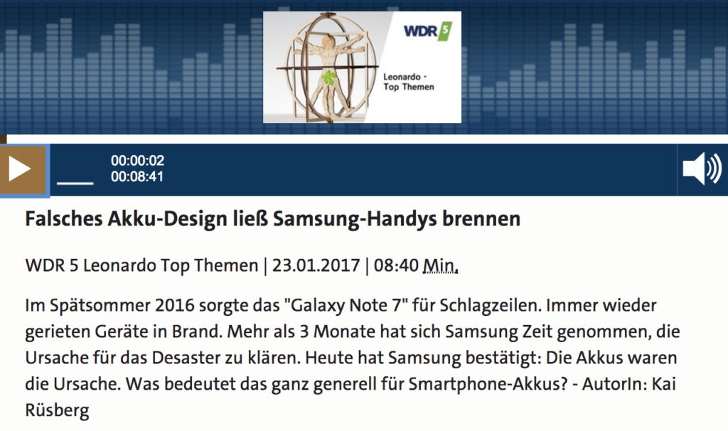Probleme beim Samsiung Galaxy 7; Rechte: WDR