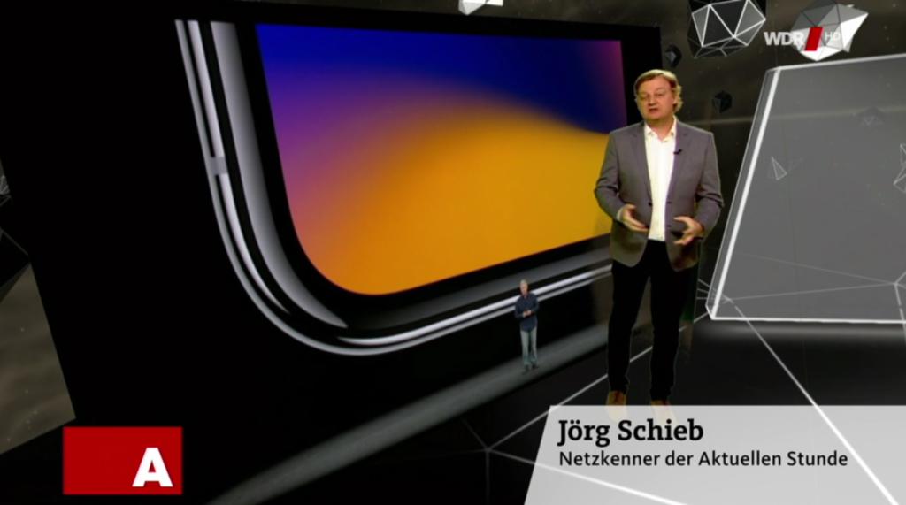 Sendereihe Angeklickt: Vorstellung des iPhoneX; Rechte: WDR