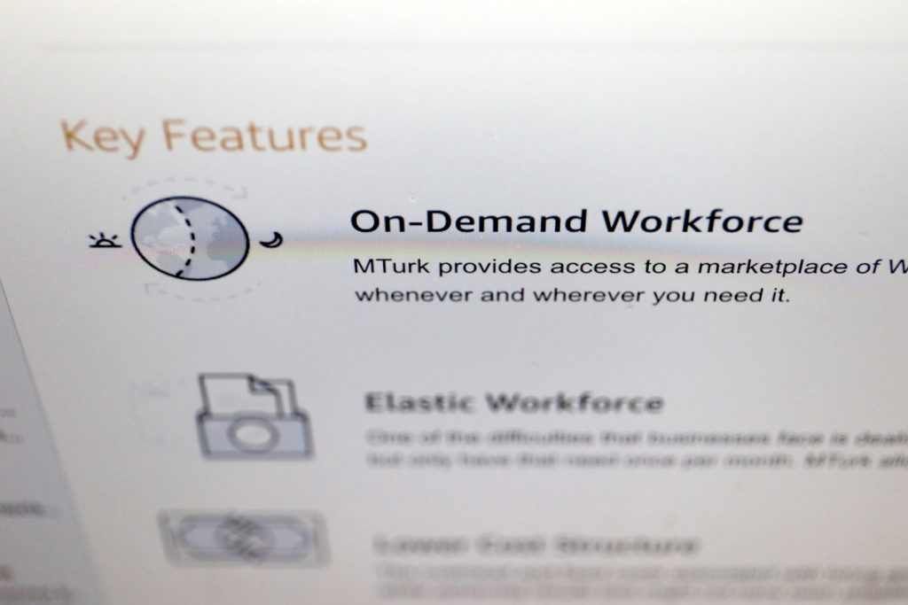 Mechanical Turk von Amazon: Elastic Workforce versprochen; Rechte: WDR/Schieb