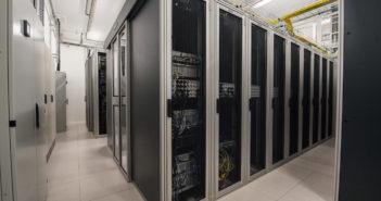 Der Knotenpunkt De-CIX in Frankfurt: Über 6 Terrabit pro Sekunde; Rechte: dpa/Picture Alliance