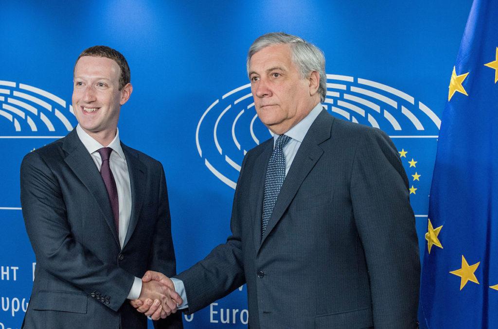 Mark Zuckerberg bei der Anhörung in Brüssel