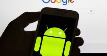 Android-Smartphone vor Googöe-Suche; Rechte: dpa/Picture Alliance
