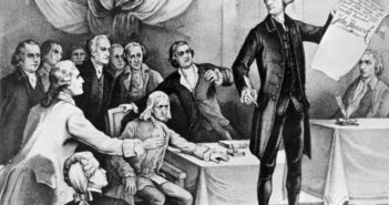 Amerikanische Unabhängigkeitserklärung; Rechte: dpa/Picture Alliance
