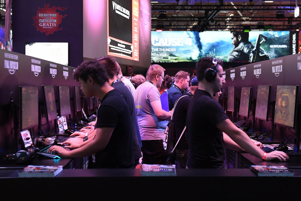 Auf der Gamescom 2018 gibt's jede Menge neuer Spiele; Rechte: dpa/Picture Alliance