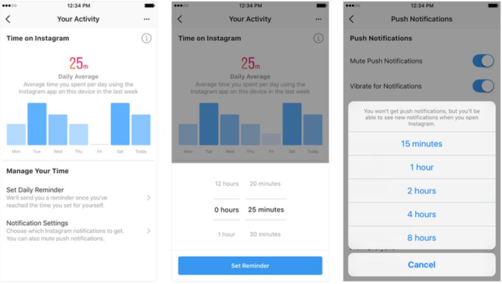 Activity Dashboard von Facebook: Wie viel Zeit im Netzwerk verbracht?; Rechte: Facebook