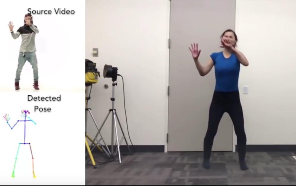 Tanzbewegungen werden auf Zielperson übertragen; Rechte: Universität Berkeley