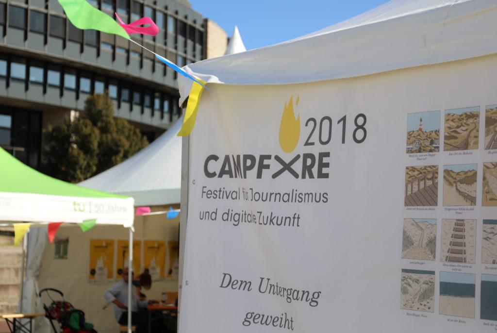 Campfire in Düsseldorf: Hier geht es um die Digitale Zukunft; Rechte: WDR/Schieb