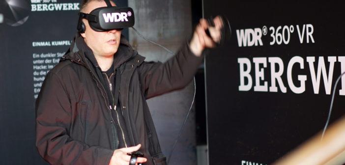 User im WDR VR Bergwerk; Rechte: WDR/Ohrndorf
