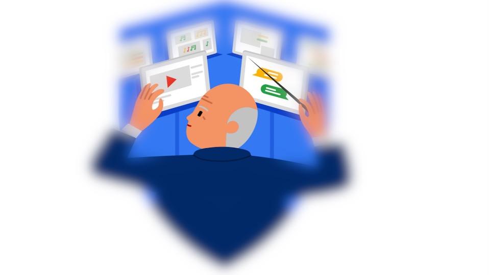 Der Benutzer orchestriert seine Konten; Rechte: Google/WDR/Schieb