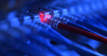 Netzwerkstecker leuchtet - Archiv (dpa)